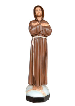Statua San Francesco d' Assisi cm. 82