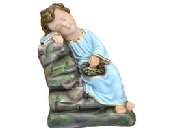 Statua Gesù bambino dormiente cm. 30
