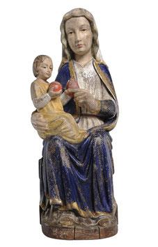 Statua Madonna di Mariazell seduta in legno