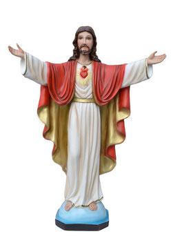 Statua Sacro Cuore di Gesù braccia aperte cm. 50