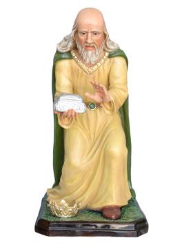 Statua Re Magio inginocchiato in resina per Natività cm. 100