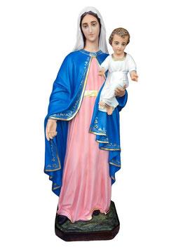 Statua Madonna con Bambino in vetroresina cm. 160
