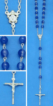 Rosario in argento e agata blu mod. 787 AB