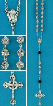 Rosario in argento e cristallo mod. 1748