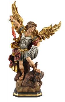 Statua San Michele in legno