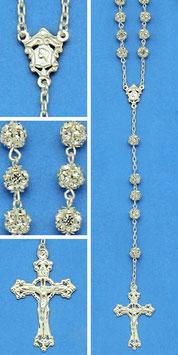 Rosario in argento e strassball mod. 1544