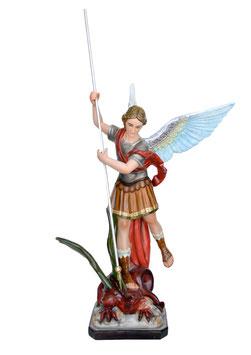 Statua San Michele Arcangelo cm. 120 in vetroresina con lancia