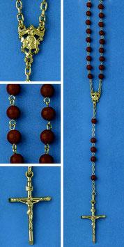 Rosario in argento e corallo rosso mod. 319C