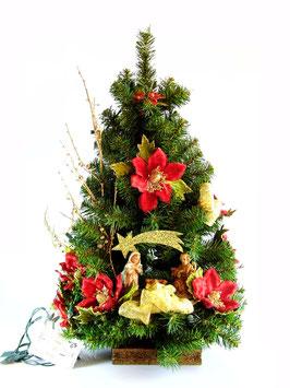 Albero di Natale con statue Natività modello Corniola