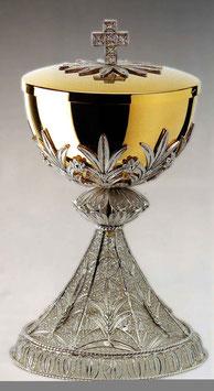 Pisside in argento con lavorazione in filigrana mod. 662