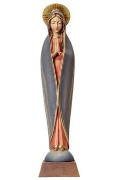 Statua Madonna di Fatima stilizzata in legno