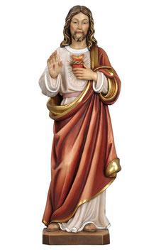 Statua Sacro Cuore di Gesù in legno