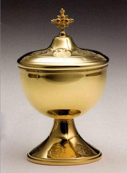 Pisside bassa in argento dorato mod. 12102 DOR