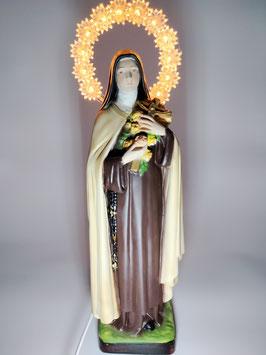 Statua Santa Teresa di Lisieux cm 30 con aureola illuminata