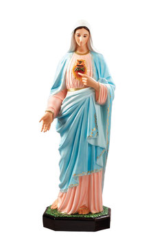 Statua Sacro Cuore di Maria in vetroresina cm. 110