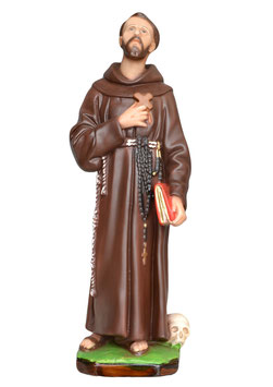 Statua San Francesco d' Assisi cm. 40 in resina