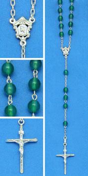 Rosario in argento e agata verde mod. 787 AV
