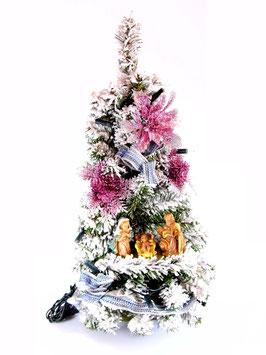 Albero di Natale con statue Natività modello Agata