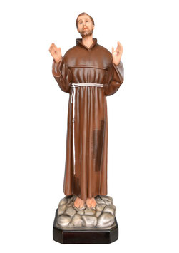 Statua San Francesco d' Assisi cm. 85 in resina
