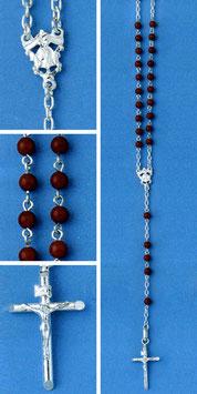 Rosario in argento e corallo rosso mod. 316C