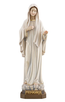 Statua Madonna di Medjugorje in legno