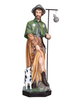 Statua San Rocco cm. 80 in vetroresina