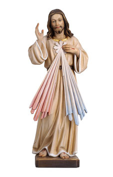 Statua Gesù Misericordioso in legno
