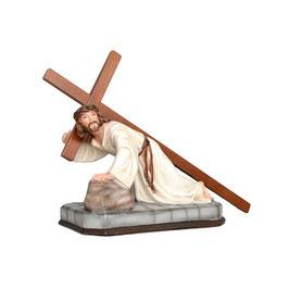 Statua Gesù cadente cm. 23 x 30 in resina