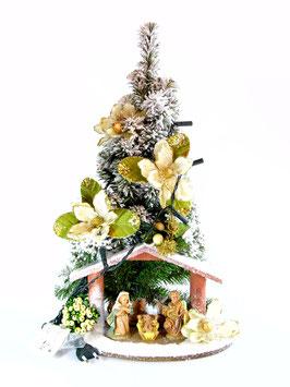 Albero di Natale con statue Natività modello Ambra