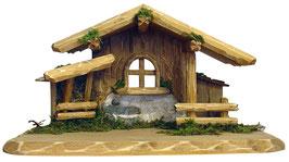 Capanna in legno per presepe mod. 028