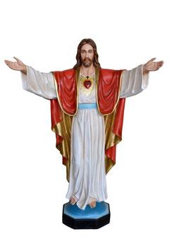 Statua Sacro Cuore di Gesù con braccia aperte cm. 200 in vetroresina