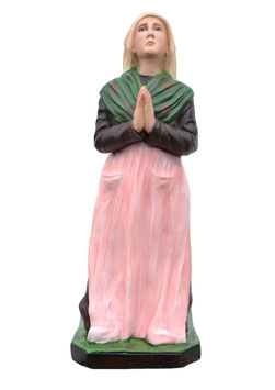 Statua Santa Bernadette cm. 55 in resina
