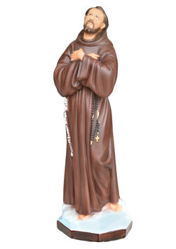 Statua San Francesco d' Assisi cm. 55 in resina
