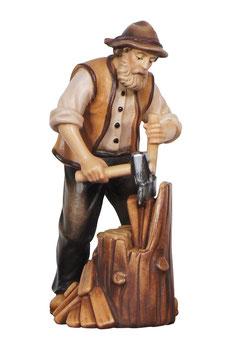 Statua boscaiolo con cappello in legno