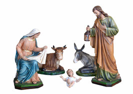 Statue Natività 5 pezzi cm. 80 e 105 in resina