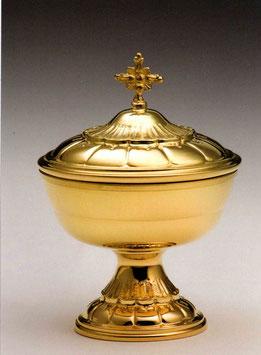 Pisside bassa in argento dorato mod. 12100 DOR