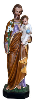 Statua San Giuseppe cm. 130 in vetroresina