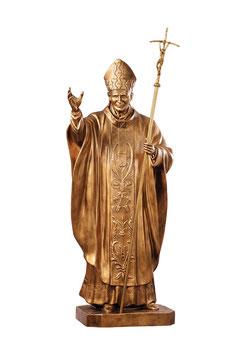 Statua Papa Giovanni Paolo II cm. 200 in vetroresina color bronzo