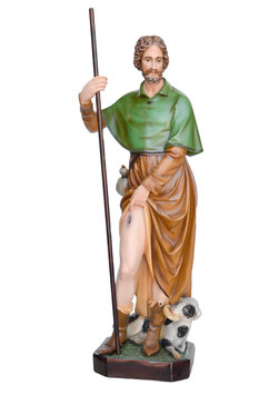 Statua San Rocco cm. 100 in vetroresina