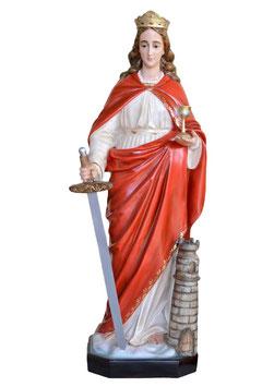 Statua Santa Barbara cm. 130 in vetroresina