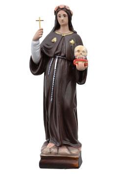 Statua Santa Rosalia cm. 30 in resina