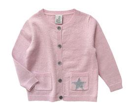 Baby Cardigan STAR • rosé