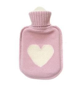 Kaschmir Wärmflasche HEART • rose