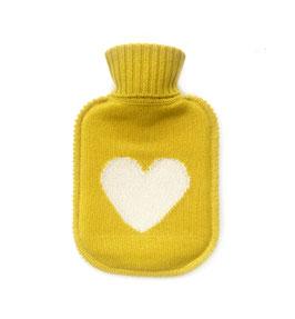 Kaschmir Wärmflasche HEART • sunshine