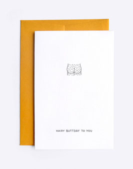 Hairy Buttday Card