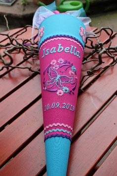 "Schultüte "" Hawaii"" pink-türkis-lila"