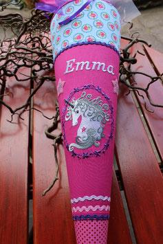 """Schultüte """" Sternenschweif 1"""" pink-hellblau"""