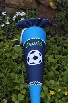 """Schultüte """"Großer Ball 4"""" dunkelblau-schwedischblau"""