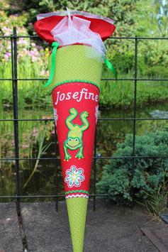 """Schultüte """"Frosch 2"""" rot-grün"""