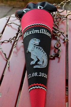 """Schultüte """"Dinosaurier 8"""" schwarz-rot-grau"""